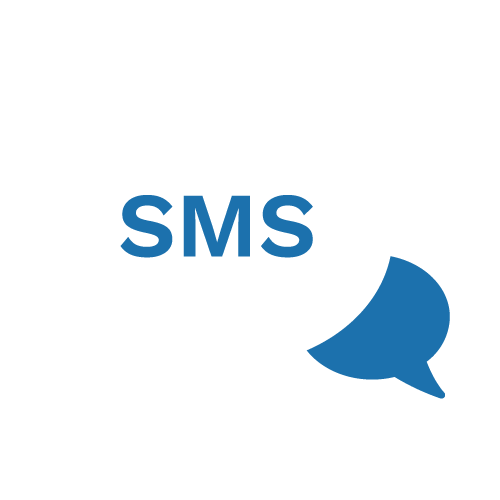 SMS bubble icon to illustrate SMS service