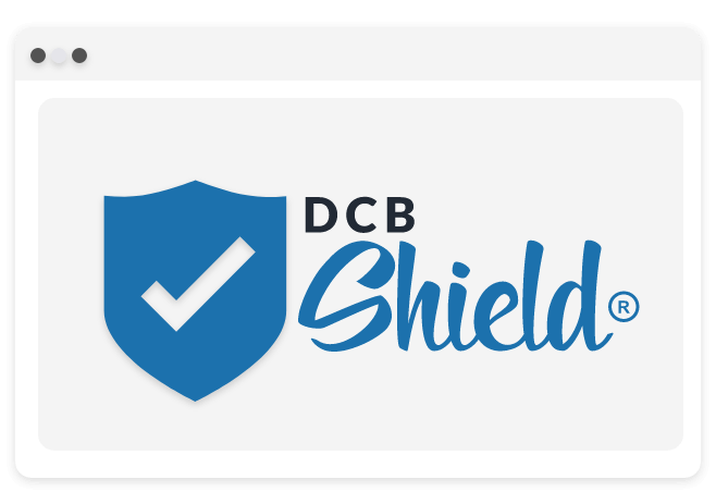 Illustration of DCB shiled in a browser