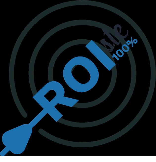 Ilustracion de flecha ROI, para mostrar las soluciones de performance de Digital Virgo
